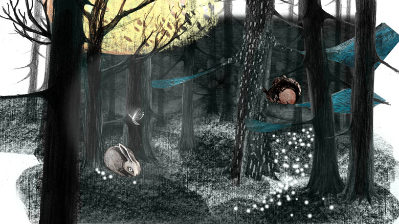 Skovunivers til interaktionsdemo
